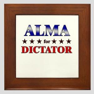 ALMA for dictator Framed Tile
