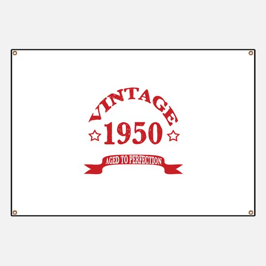Vintage 1950 Aged To Perfection Banner