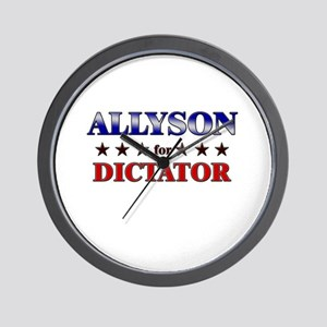 ALLYSON for dictator Wall Clock