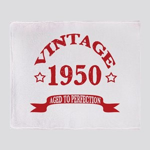 Vintage 1950 Aged To Perfection Throw Blanket
