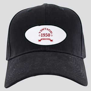 Vintage 1950 Aged To Perfecti Black Cap with Patch