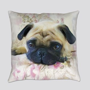 Pug Dog Everyday Pillow