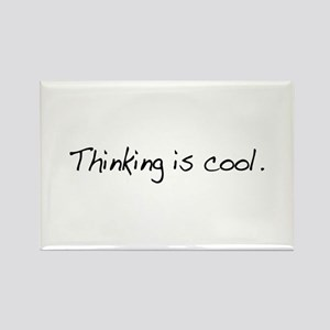 Thinking is Cool Rectangle Magnet