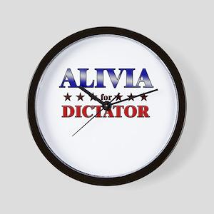 ALIVIA for dictator Wall Clock