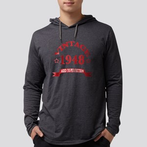 Vintage 1948 Aged To Perfection Mens Hooded Shirt