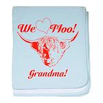 We love Moo! Highland Cow baby blanket