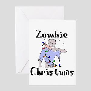Anti zombie greeting cards cafepress zombiexmas greeting cards m4hsunfo