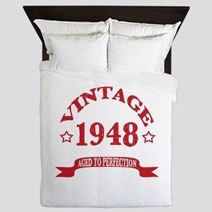 Vintage 1948 Aged To Perfection Queen Duvet