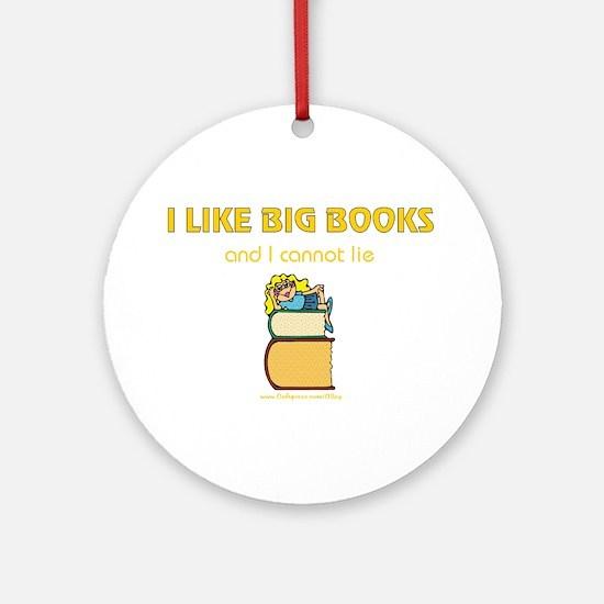 Like Big Books (f) Ornament (Round)