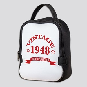 Vintage 1948 Aged To Perfection Neoprene Lunch Bag