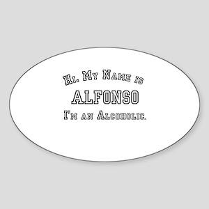 Alfonso Oval Sticker