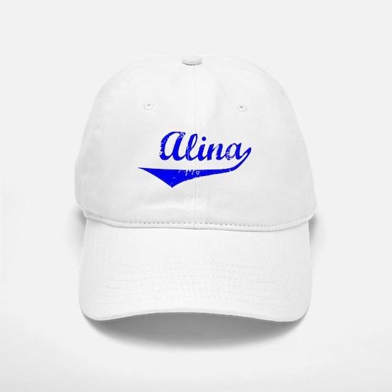 Alina Vintage (Blue) Baseball Baseball Cap