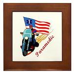 Paramedic Biker Framed Tile