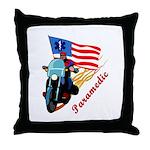 Paramedic Biker Throw Pillow