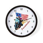 Paramedic Biker Wall Clock