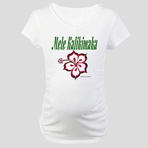 Hawaiian Merry Christmas Maternity T-Shirt
