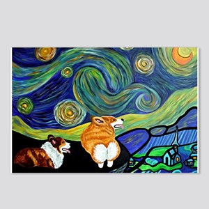 Corgi Starry Starry Night Postcards (Package of 8)