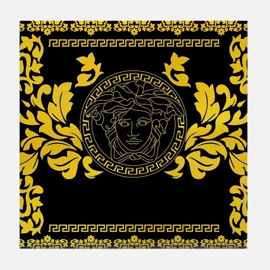 Gold Medusa Tile Coaster