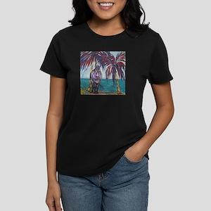 """""""Island Donkey""""-  Women's Dark T-Shirt"""