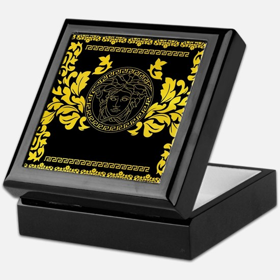 Gold Medusa Keepsake Box