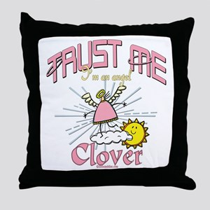 Angelic Clover Throw Pillow