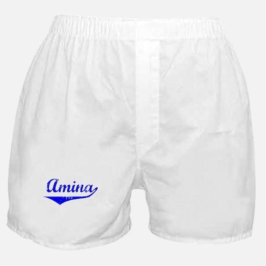 Amina Vintage (Blue) Boxer Shorts