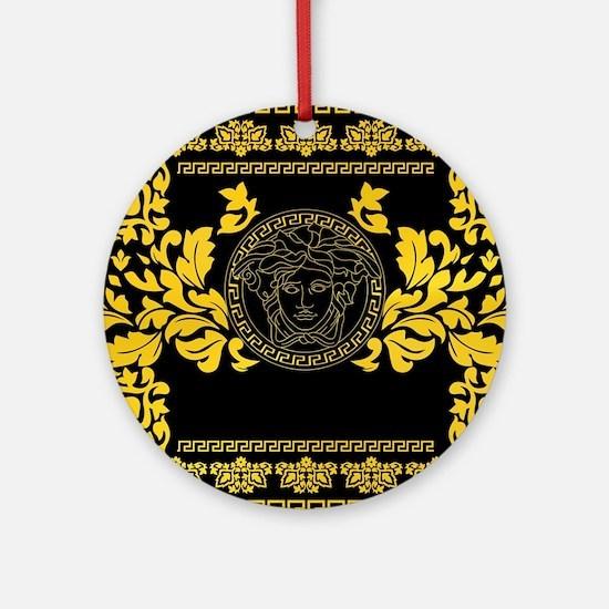 Gold Medusa Round Ornament