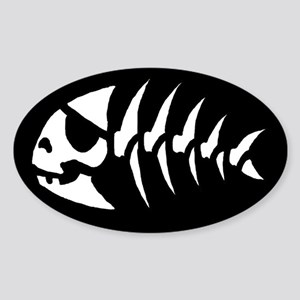 Pirate Fish Oval Sticker