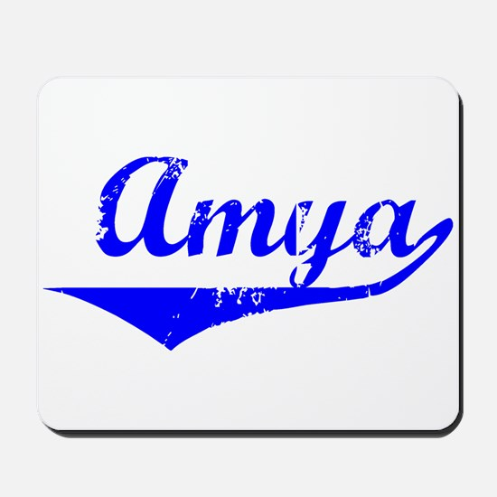 Amya Vintage (Blue) Mousepad