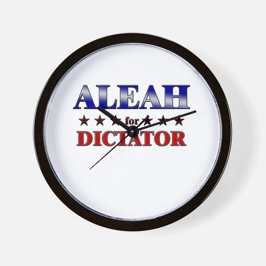 ALEAH for dictator Wall Clock