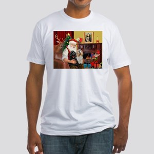 Santa's 2 Cockers Fitted T-Shirt
