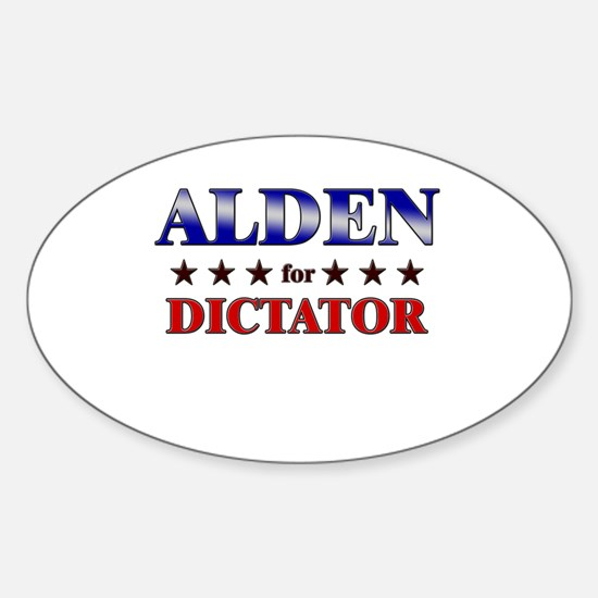 ALDEN for dictator Oval Decal