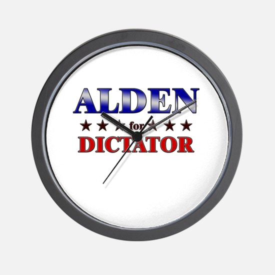 ALDEN for dictator Wall Clock