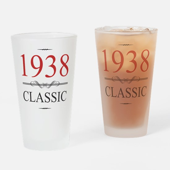 1938 Classic Birthday Drinking Glass