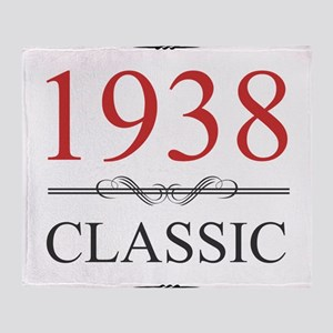 1938 Classic Birthday Throw Blanket