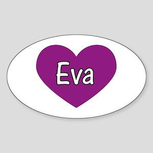 Eva Oval Sticker