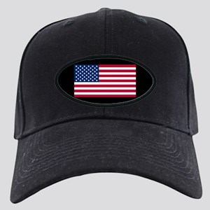 US Flag Black Cap