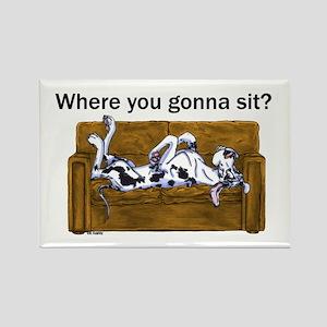 NH Where RU Gonna Sit? Rectangle Magnet