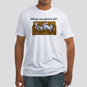 NH Where RU Gonna Sit? Fitted T-Shirt