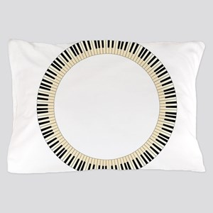 Pianom Keys Circle Pillow Case