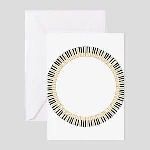 Pianom Keys Circle Greeting Cards