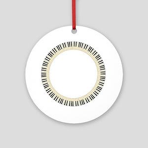 Pianom Keys Circle Round Ornament