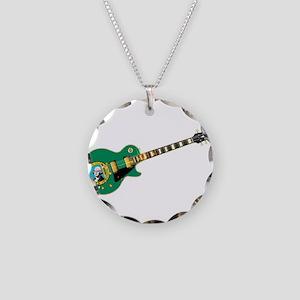 Washington State Flag Guitar Necklace Circle Charm