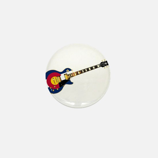 Colorado Flag Guitar Mini Button
