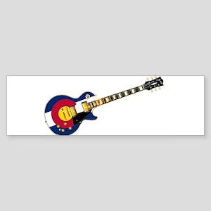 Colorado Flag Guitar Bumper Sticker