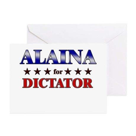 ALAINA for dictator Greeting Cards (Pk of 20)