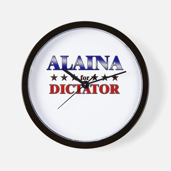 ALAINA for dictator Wall Clock
