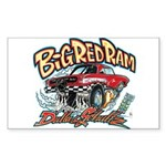 Big Red Ram Cartoon Sticker