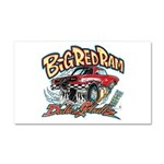 Big Red Ram Cartoon Car Magnet 20 x 12