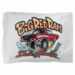 Big Red Ram Cartoon Pillow Sham